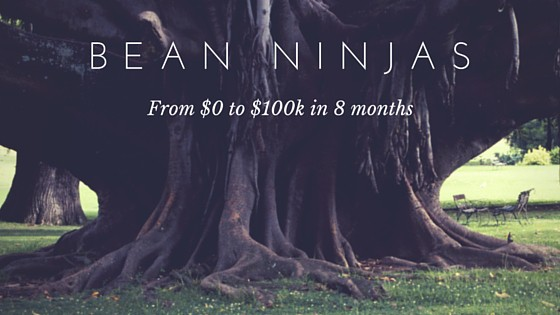 Business Growth Story: Bean Ninjas – from 0 to $100k in 8 months