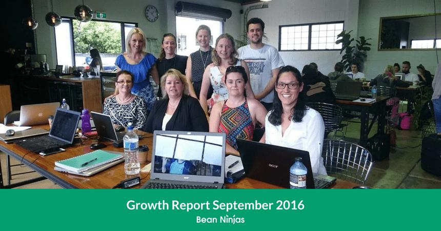 Bean Ninjas Growth Report September 2016