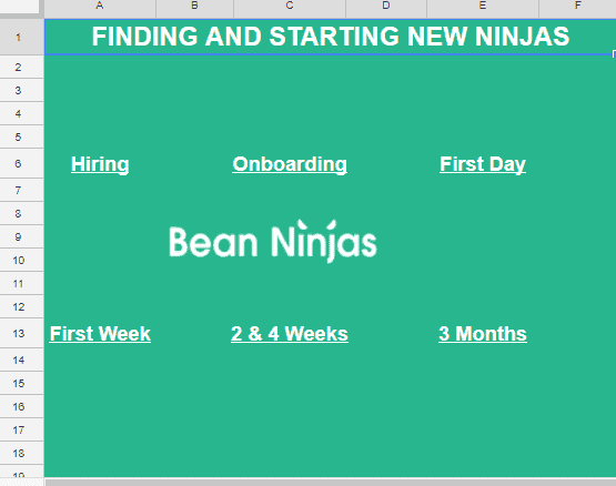 Bean Ninjas Onboarding Framework