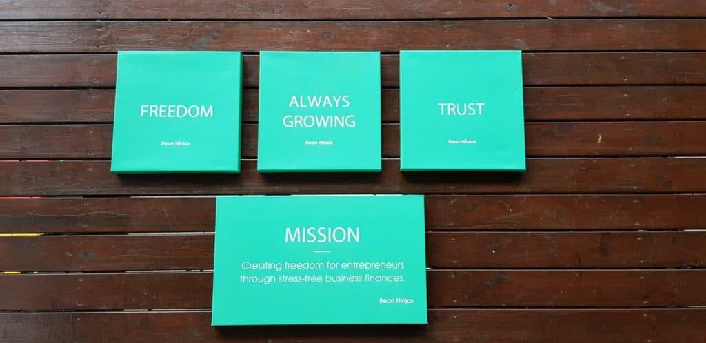 Bean Ninjas mission and company values
