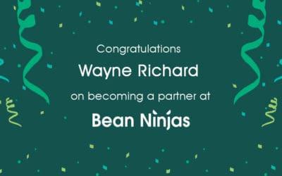 Bean Ninjas welcomes new partner Wayne Richard
