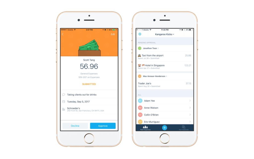 xero expenses mobile app